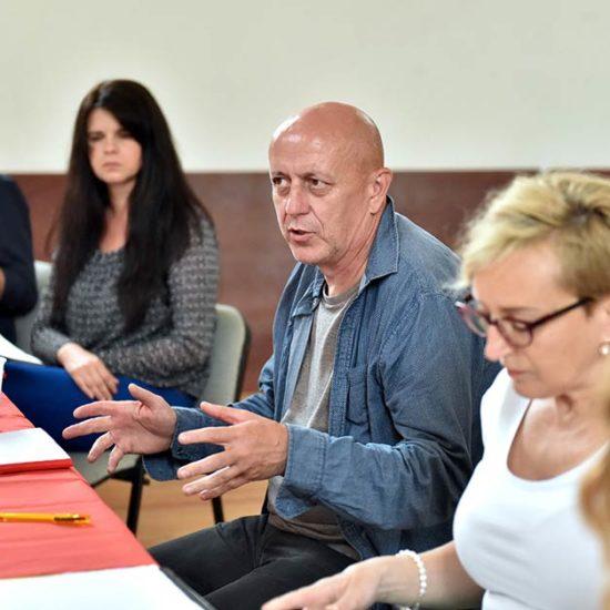 Méhes László rendező és munkatársa, Ludányi Andrea
