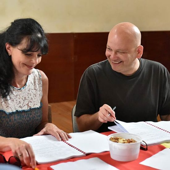 Dimanopulu Afrodite és Baráth Zoltán jó hangulatban
